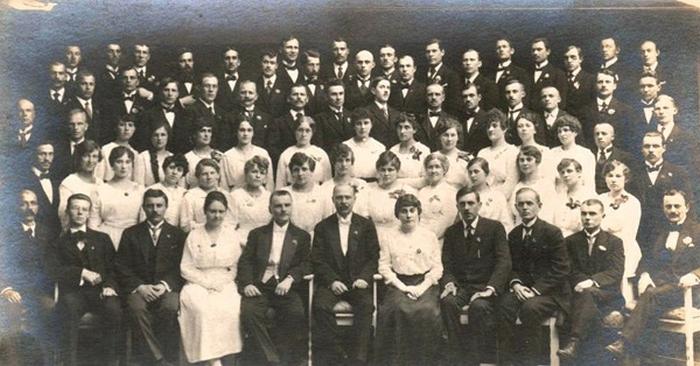 Участники хора Киевского университета.