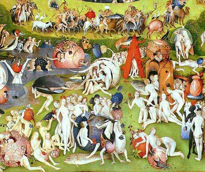 Фрагмент центральной панели триптиха Босха.