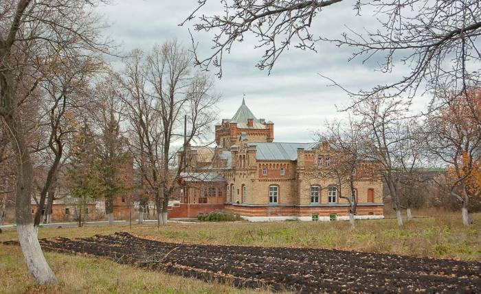 Вид на замок и парк.