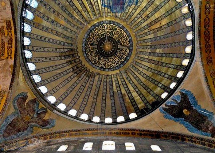 Исламские элементы в Святой Софии./ Фото: mad-ptah.com