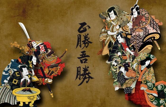 Японские самураи. / Фото: oboi7.com