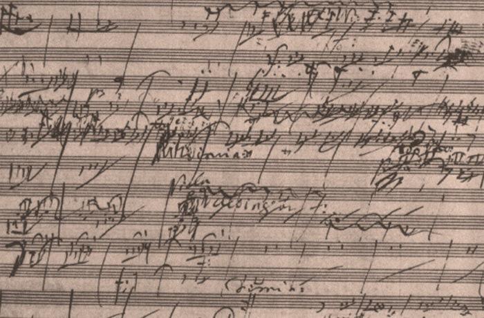 Оригинал рукописи Симфонии № 6 Бетховена.