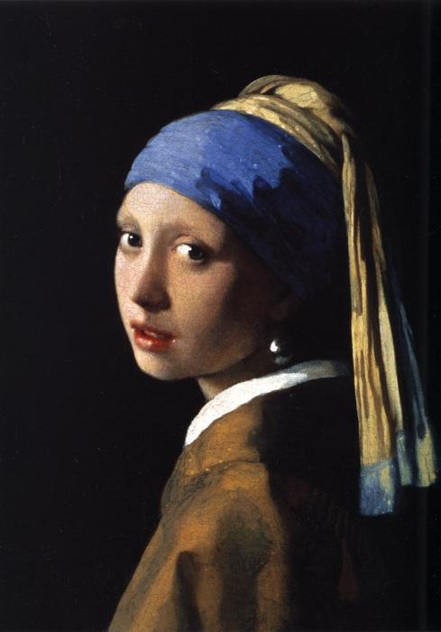 Девушка с жемчужной сережкой. Ян Вермеер.