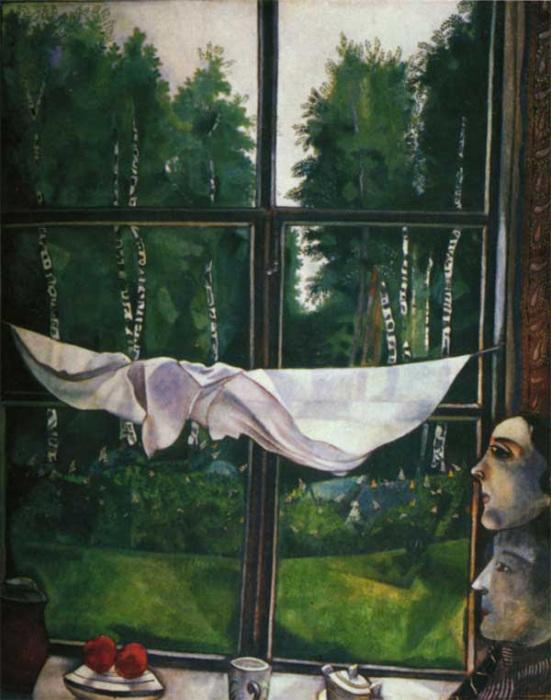 «Окно на даче». Марк Шагал.