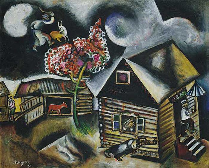 «Дождь». Марк Шагал.