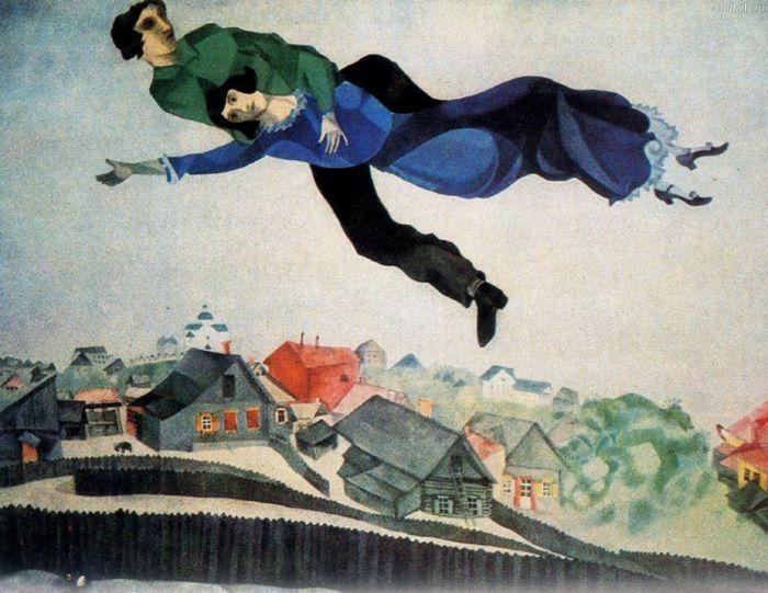 «Над городом». Марк Шагал.