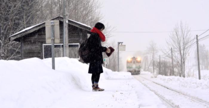 Поезд для школьницы.