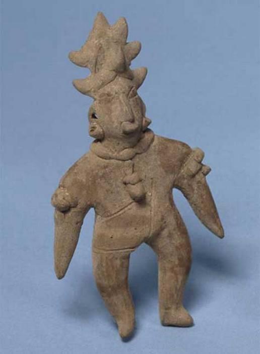 Подобная «шаманская» статуэтка с рогом, которая  ранее была обнаружена в Колиме.