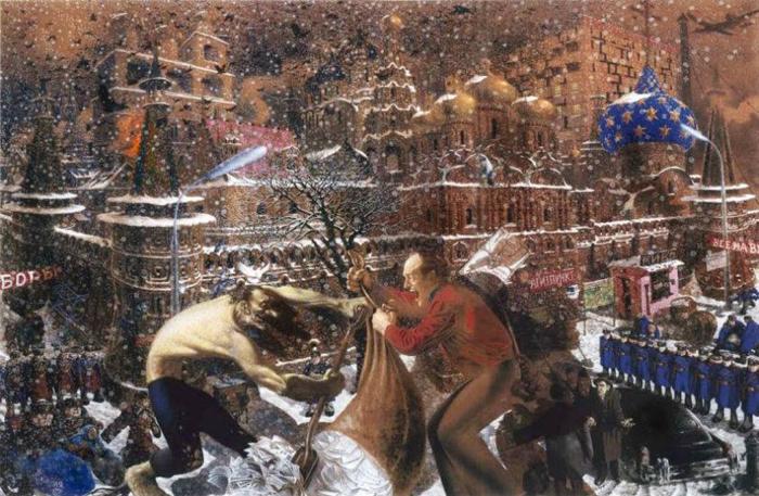 Детали на картинах Ситникова можно рассматривать бесконечно.