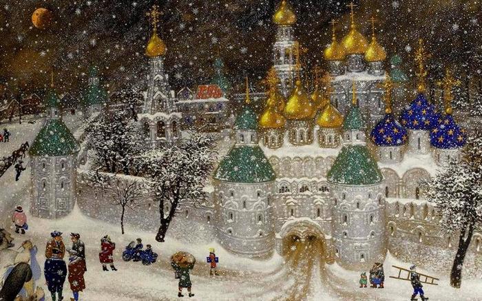 Купола и снег.