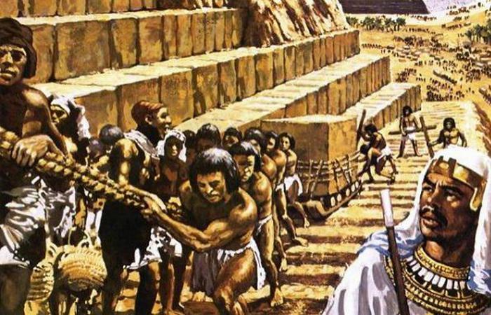 Рабство и строительство египетских пирамид.