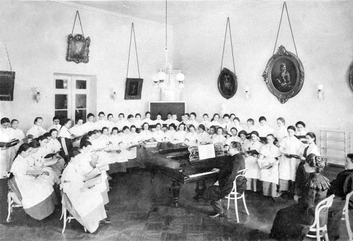Урок пения.Фото 1889 г.