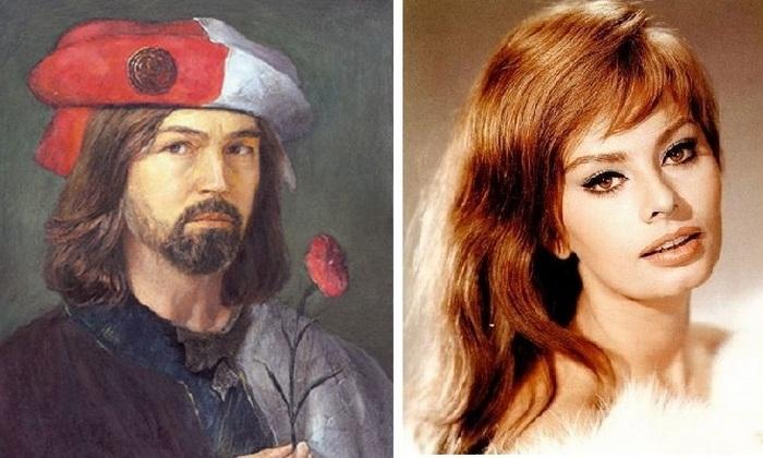 Никас Сафронов и Софи Лорен.