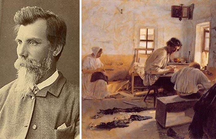 Лев Соловьёв и его картина «Сапожники».