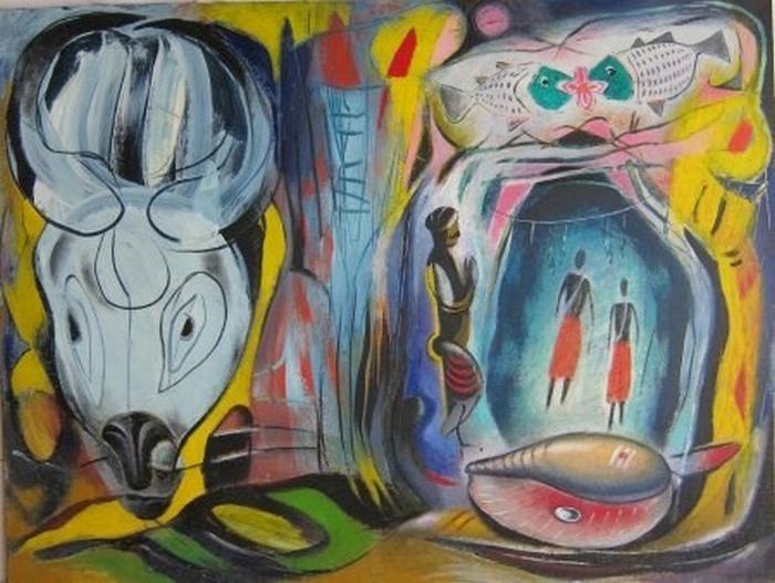 Картины-абстракции Сурена Арутяна.