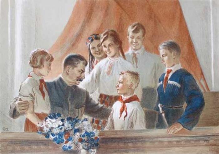 Сталин и дети.