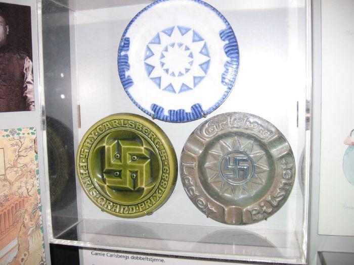 Довоенные логотипы пивоваренной компании Карлсберг.