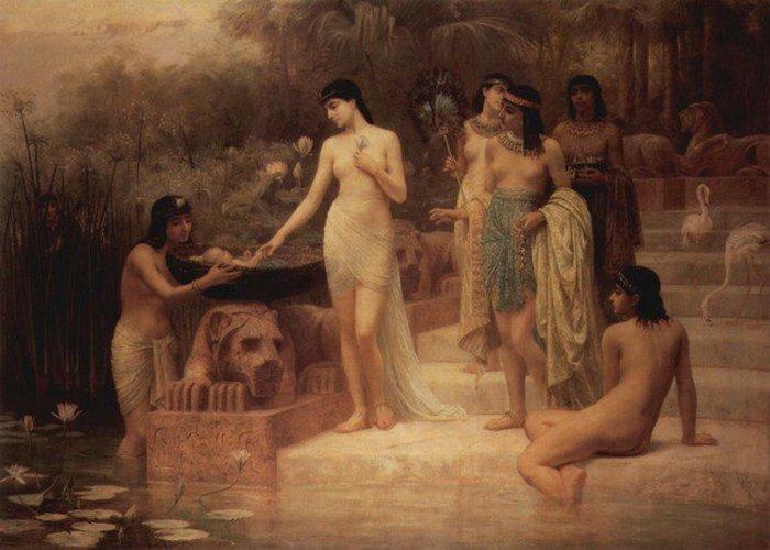 Эдвин Лонг<br>Дочь фараона. Нахождение Моисея