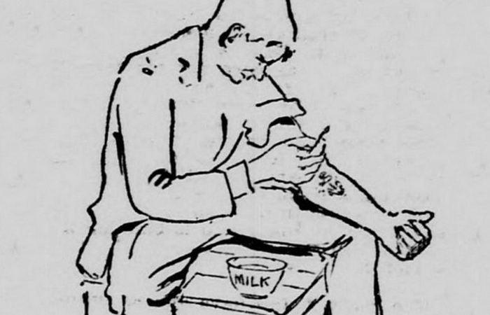 Удаление татуировок с помощью молока и зубочистки.