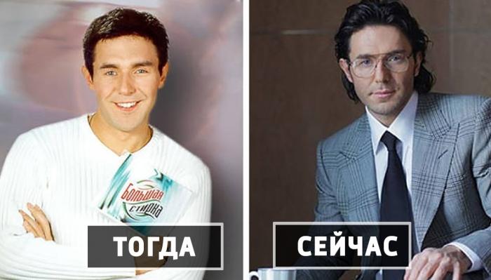 Популярные телеведущие в 1990-х и сегодня.