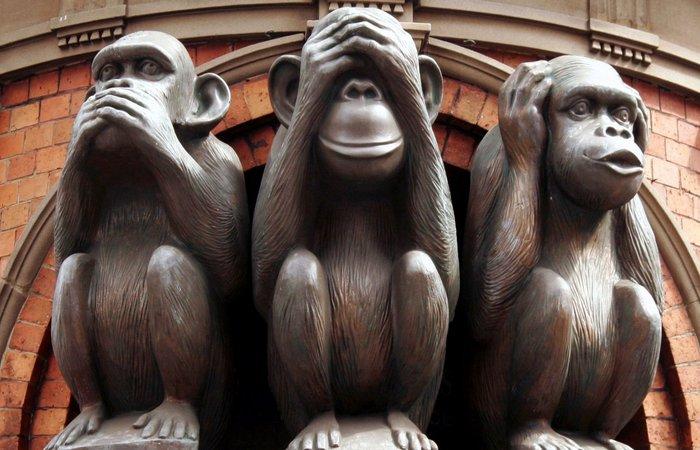 Три мудрых обезьяны./ Фото: noomarketing.net
