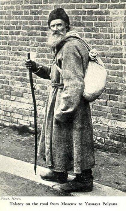 Лев Толстой по дороге из Москвы в Ясную Поляну.