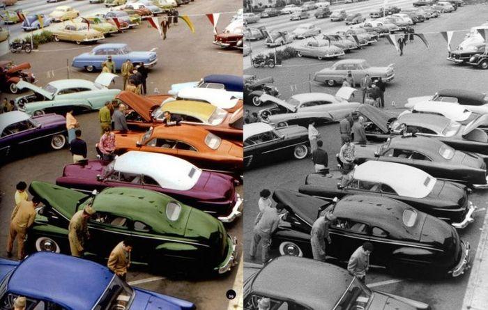 Автошоу 1950-х годов.