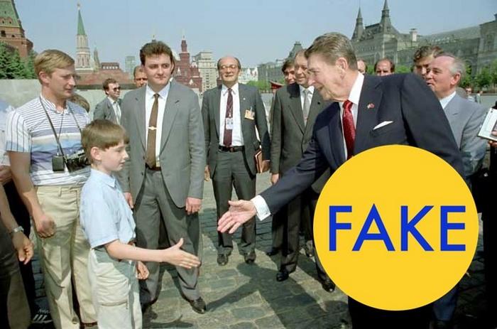 Владимир Путин, который шпионил в 1988 году за Рональдом Рейганом.