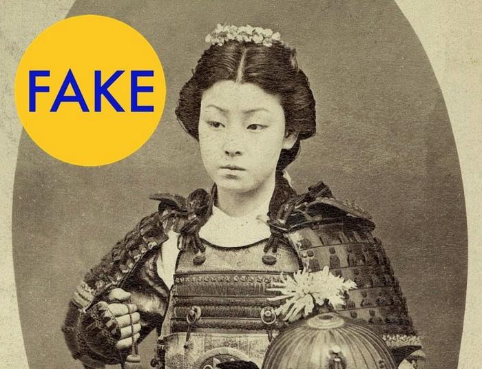 Редкое фото онна-бугэйся, японской женщины-самурая.