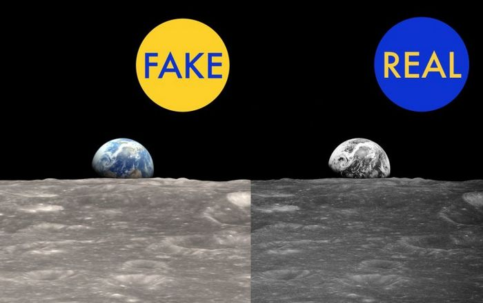 Восход Земли из-за горизонта на Луне 24 декабря 1968 года.