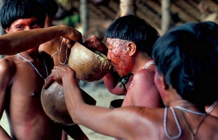 Странная традиция: погребальный ритуал Яномами.