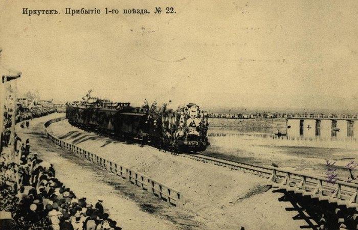 Прибытие первого поезда в Иркутск. /фото:pastvu.com