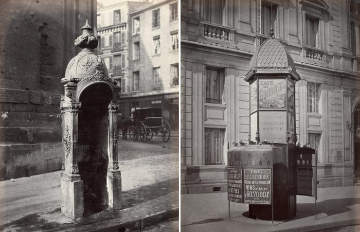 Общественной туалеты XIX века на улицах французской столицы