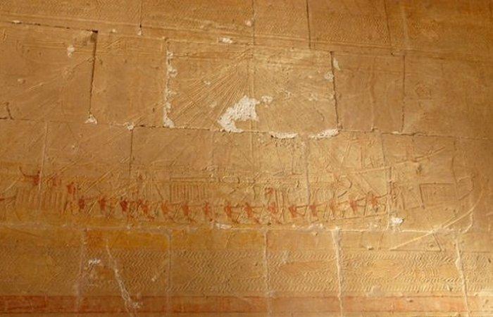 Фрагменты древних египетских кораблей.