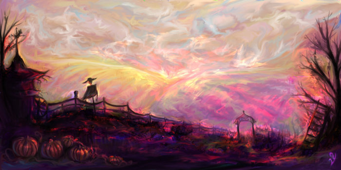 Сахарный закат. Художник: Виктория Юрковская.