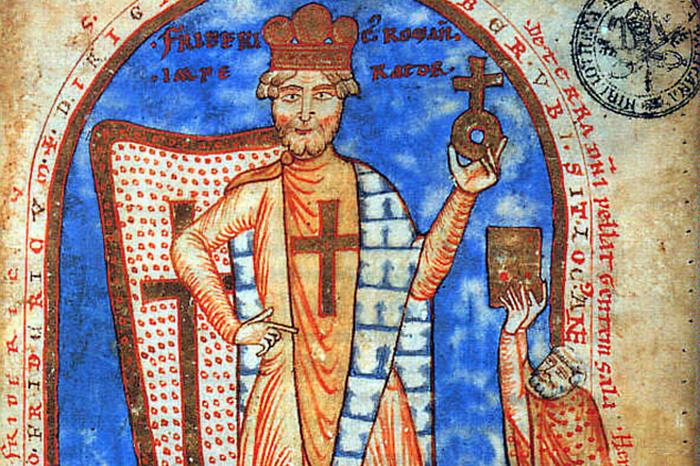 Император Священной Римской империи Фридрих Барбаросса.