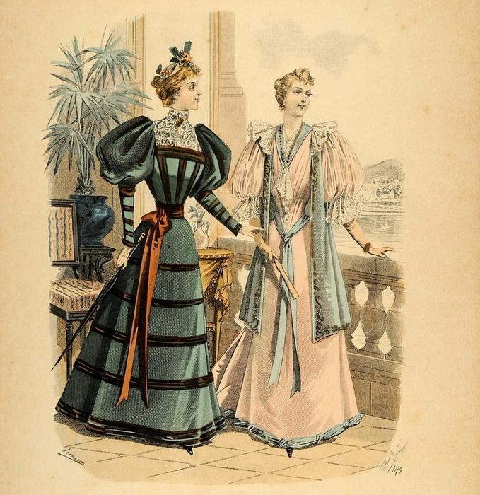 Дамы викторианской эпохи.