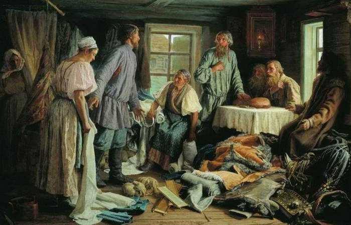«Семейный раздел» (1876), худ. Максимов В.М./ Фото: multiurok.ru