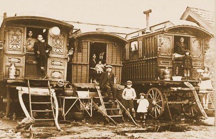 Традиционные дома британских цыган.