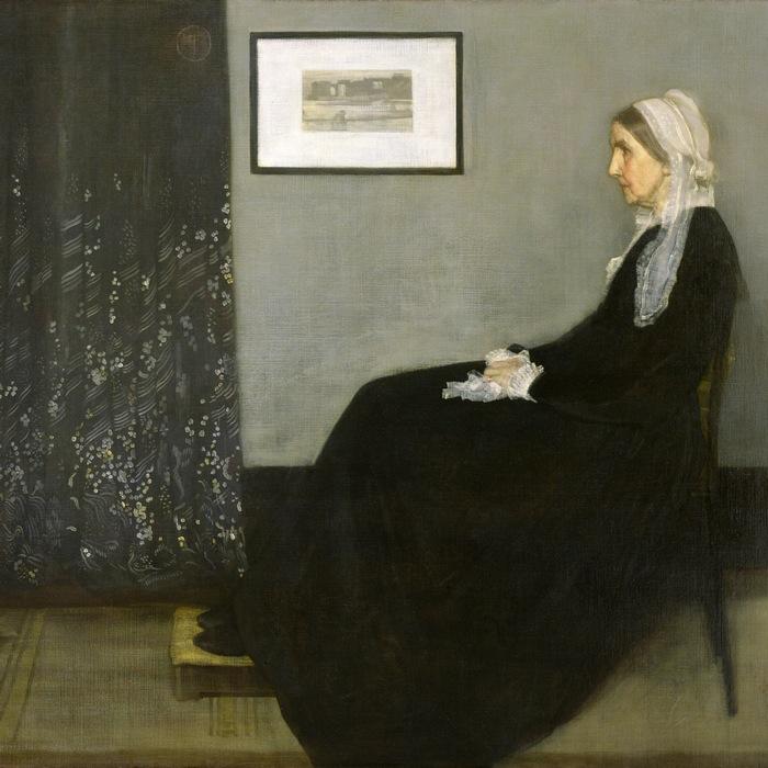 Аранжировка в сером и черном. Мать художника. Художник Джеймс Макнейл Уистлер