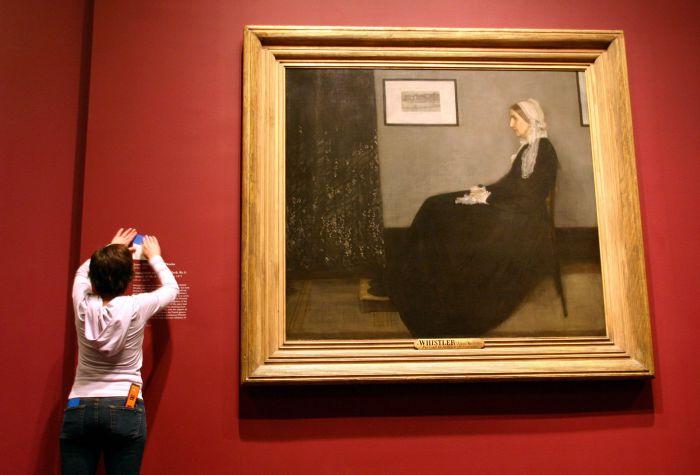Аранжировка в сером и черном. Мать художника. Джеймс Макнейл Уистлер.