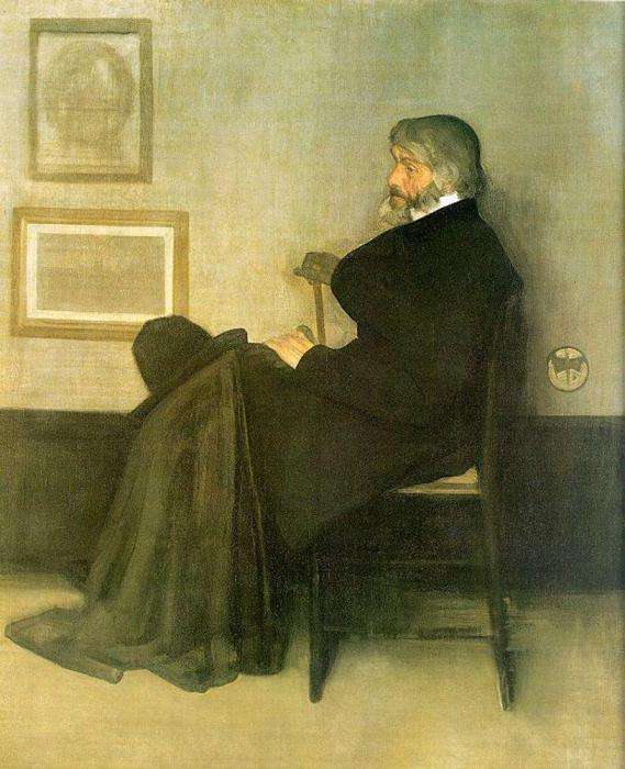 «Вариация в сером и зелёном. Портрет Томаса Карлейля».