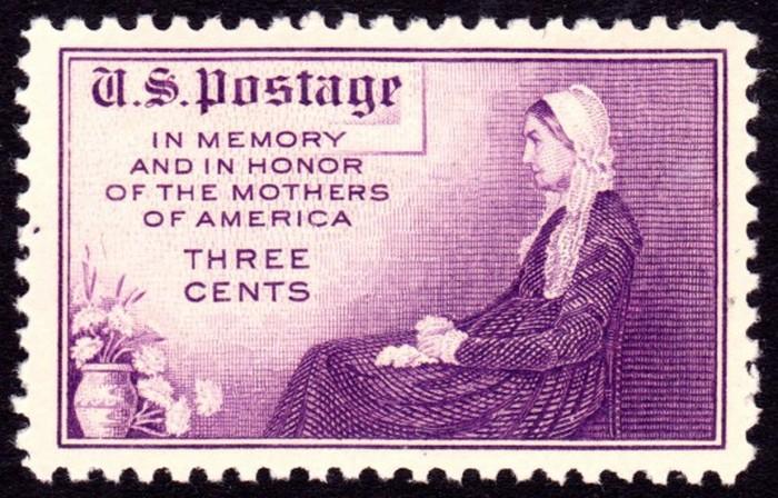 США, 2 мая 1934. Марка, посвященная Дню матери.