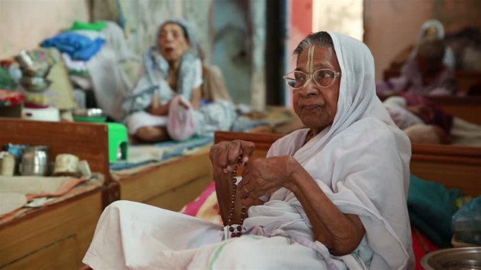 Обитательницы ашрама в Вриндаване.