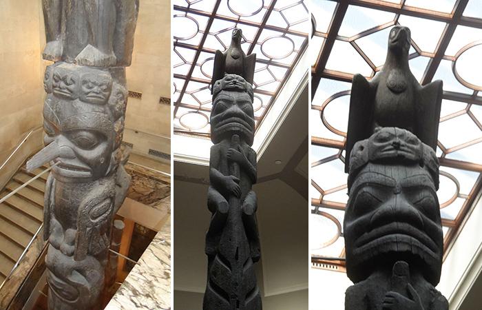 Тотемы в Королевском музее Онтарио
