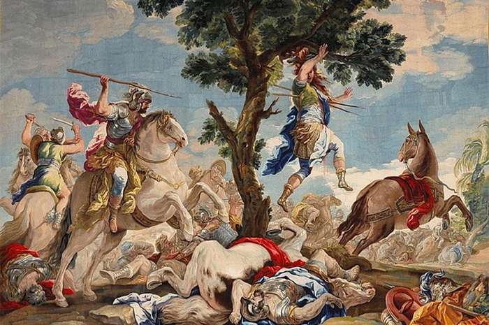 Картина афродита преподносит парису елену, где богиню любви окружают дети и амур