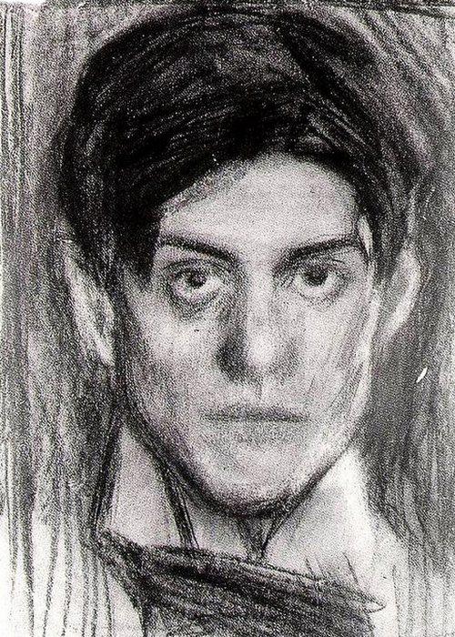 Автопортрет Пабло Пикассо, 1900 года.
