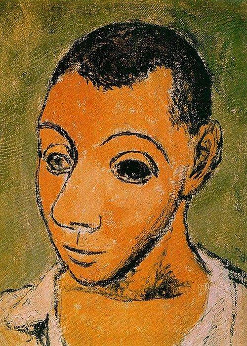 Автопортрет Пабло Пикассо, 1906 года.