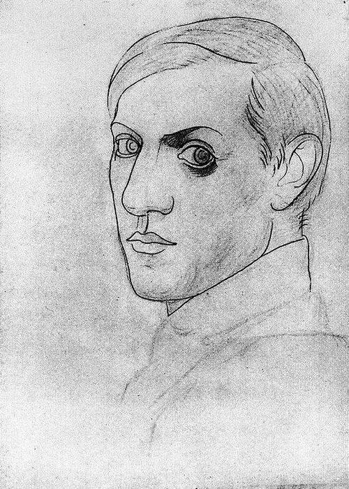 Автопортрет Пабло Пикассо, 1917 года.