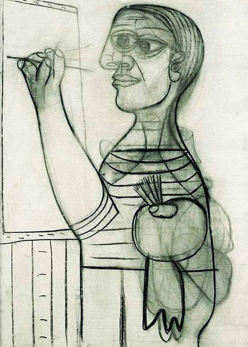 Автопортрет Пабло Пикассо, 1938 года.